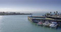 Aerial of port Ahuriri, Napier, New Zealand Stock Footage