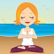 Ocean Meditation - stock illustration