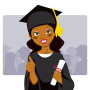 African American Graduate Piirros