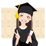 Asian Graduate Stock Illustration