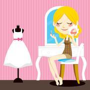 Beauty Make-up - stock illustration