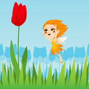 Tulip Fairy - stock illustration