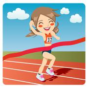 Athlete Woman Stock Illustration