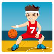 Active Basketball Player - stock illustration