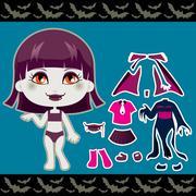 Vampire Fashion Girl Stock Illustration