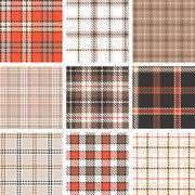 Plaid seamless pattern background, symmetrical Stock Illustration