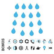 Drops Flat Vector Icon With Bonus - stock illustration