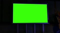 Green screen in seminar conference exhibition and convention center Stock Footage