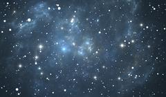 Space background with blue nebula and stars Stock Illustration