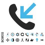 Incoming Call Flat Vector Icon With Bonus - stock illustration
