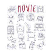 Movie Produstion And Industry Objects Collection Piirros