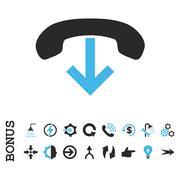 Phone Hang Up Flat Vector Icon With Bonus Stock Illustration