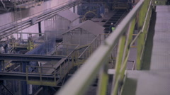 Modern plant at an heavy industrial factory Stock Footage