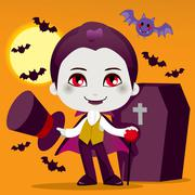 Little Count Dracula - stock illustration