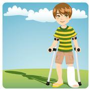 Broken Ankle - stock illustration
