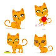 Orange Tabby Cat Stock Illustration