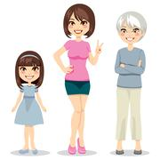 Age of Women Stock Illustration