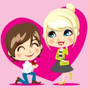 Marriage Proposal - stock illustration