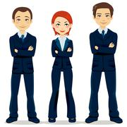 Confident Business Team - stock illustration