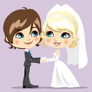 Sweet Wedding Day Stock Illustration