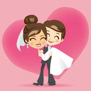 Honeymoon Love Stock Illustration
