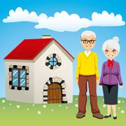 Sweet Retirement House Stock Illustration
