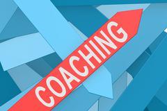 Coaching arrow pointing upward Stock Illustration