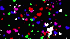 Background. Flying heart, loop. - stock footage