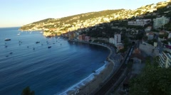 Beach of Villefranche, French Riviera Stock Footage