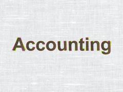 Money concept: Accounting on fabric texture background - stock illustration