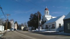 Portsmouth White Church Stock Footage