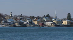 Portsmouth Harbor View Stock Footage