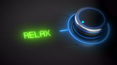 Switch button with three options, relax, worry, stress Stock Footage