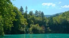 Lake view in Plitvice Lakes National Park Stock Footage