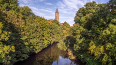 Time Lapse of Glasgow University - stock footage