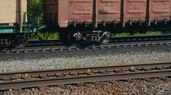 Freight train locomotive - stock footage