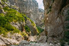 Landscape Of The Gorges Du Verdon In South-eastern France Stock Photos