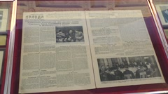 Newspaper about Livadia Conference 1945 Stock Footage