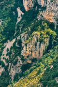 Rocky background of the Gorges Du Verdon in France - stock photo