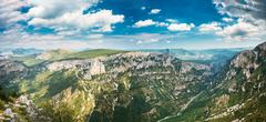 Beautiful Mountains Landscape Of The Gorges Du Verdon In South-eastern France - stock photo