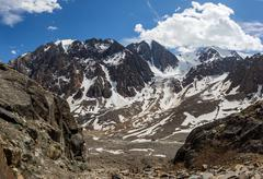 Beautiful view of a mountains landscape in Altai - stock photo