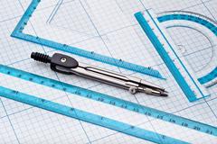 Geometry tools Stock Photos