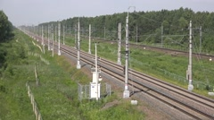 Double EMU Sapsan train to Moscow - the World's longest high speed train Stock Footage