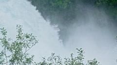 Water texture at Huka falls, Waikato river, taupo, New Zealand Stock Footage