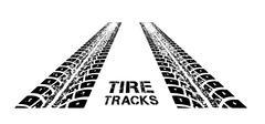 Tire tracks vector - stock illustration