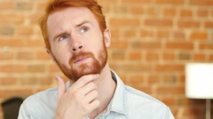 Young Man  Thinking, Wondering, Close-up - stock footage