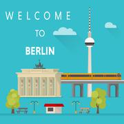 Welcome to Berlin. Vector illustration Piirros