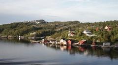 Norway fjord coastline - stock footage