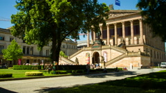 Alte Nationalgalerie (old national gallery) in Berlin - time lapse shot Stock Footage