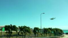 SINT MAARTEN -  Airplane landing in Princess Juliana airport Stock Footage